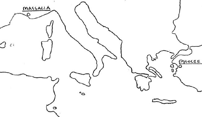 Situation de Marseille et de Phocée